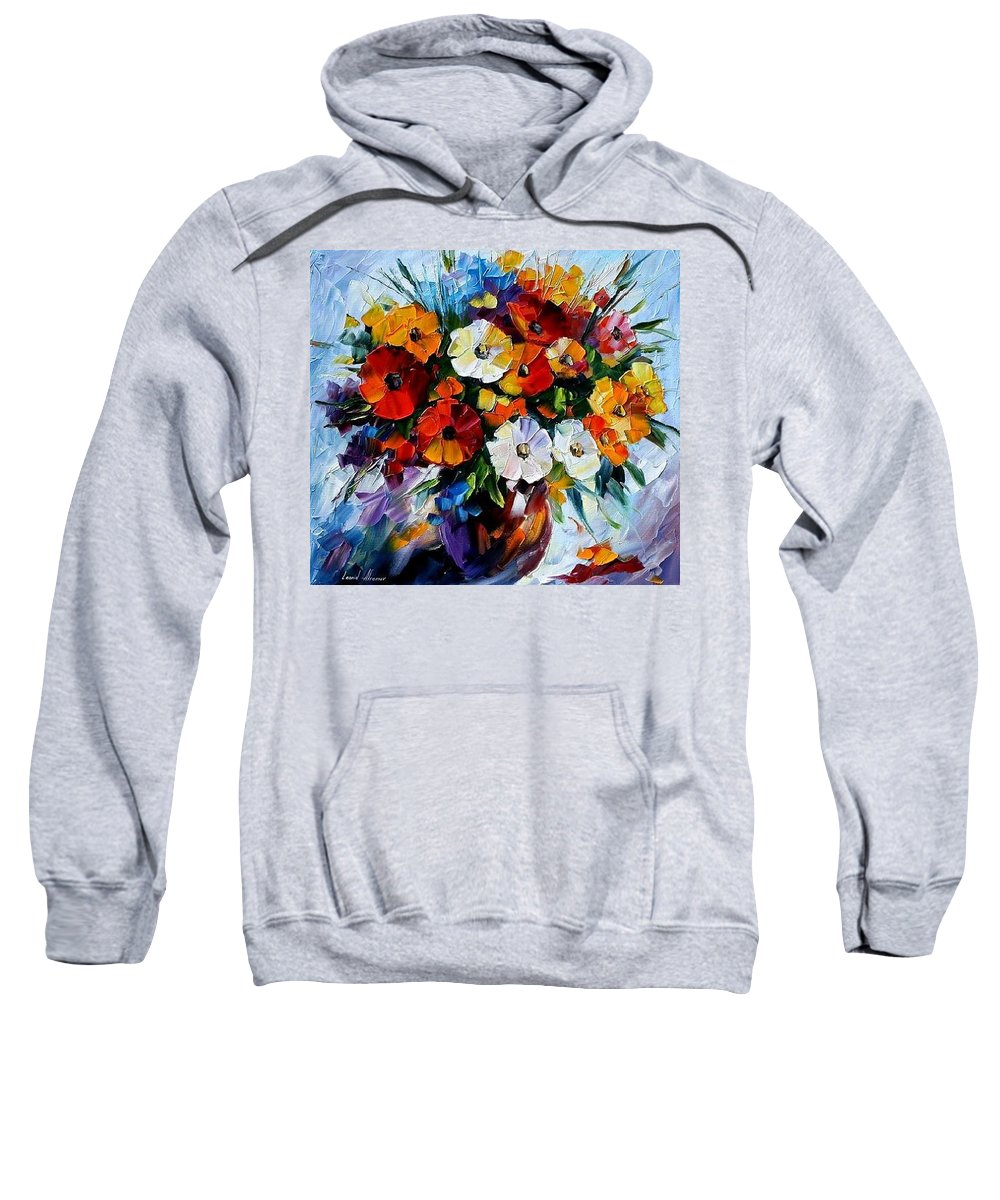 Flowers Sweatshirt featuring the painting Celebration Bouquet by Leonid Afremov