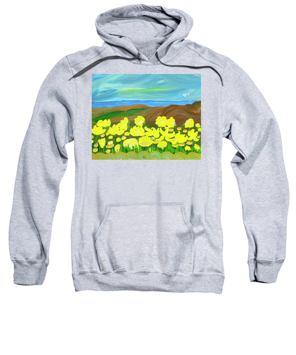 Landscape Sweatshirt featuring the painting Celebration by Sara Credito