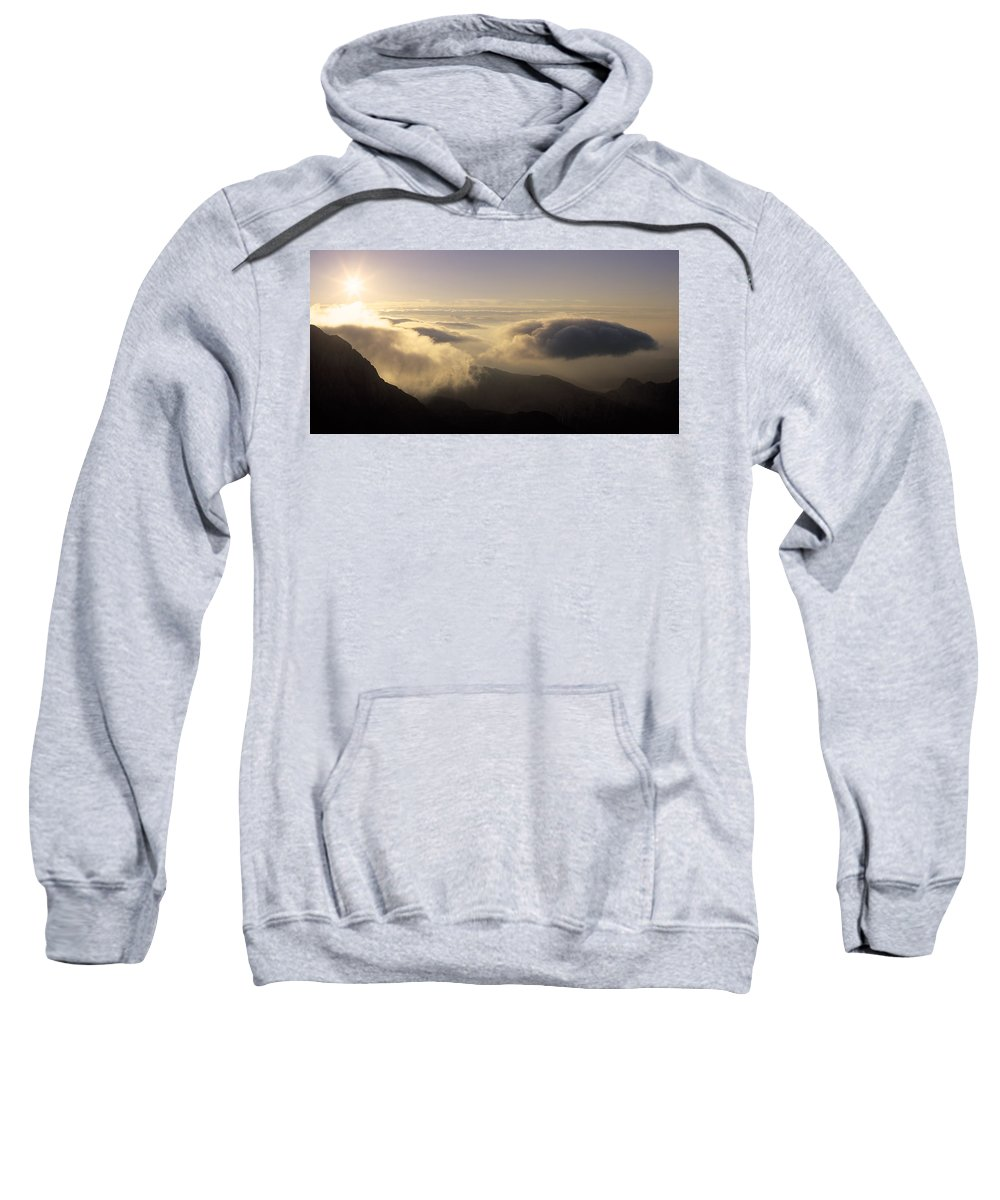 Alps Sweatshirt featuring the photograph Celestial Wanderers by Konstantin Dikovsky