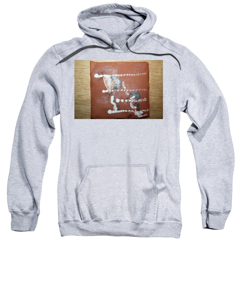 Jesus Sweatshirt featuring the ceramic art Celia And Brian - Tile by Gloria Ssali