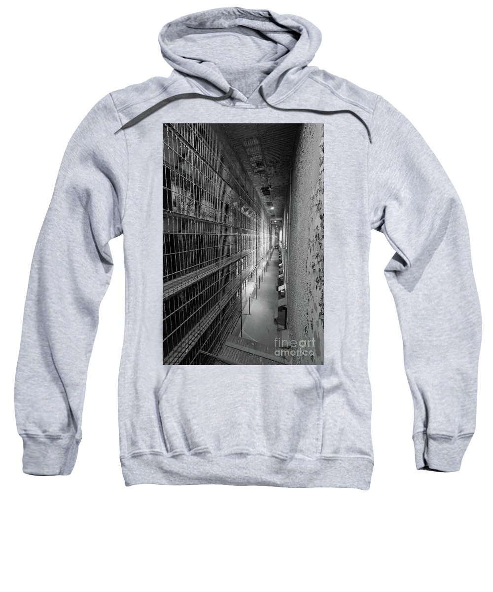 Cell Sweatshirt featuring the photograph Cell Block by Steve Gass
