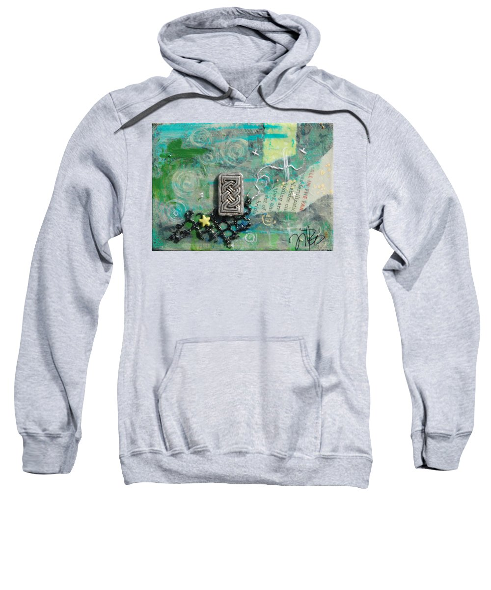 Celtic Sweatshirt featuring the mixed media Celtic Tones by Jennifer Kelly
