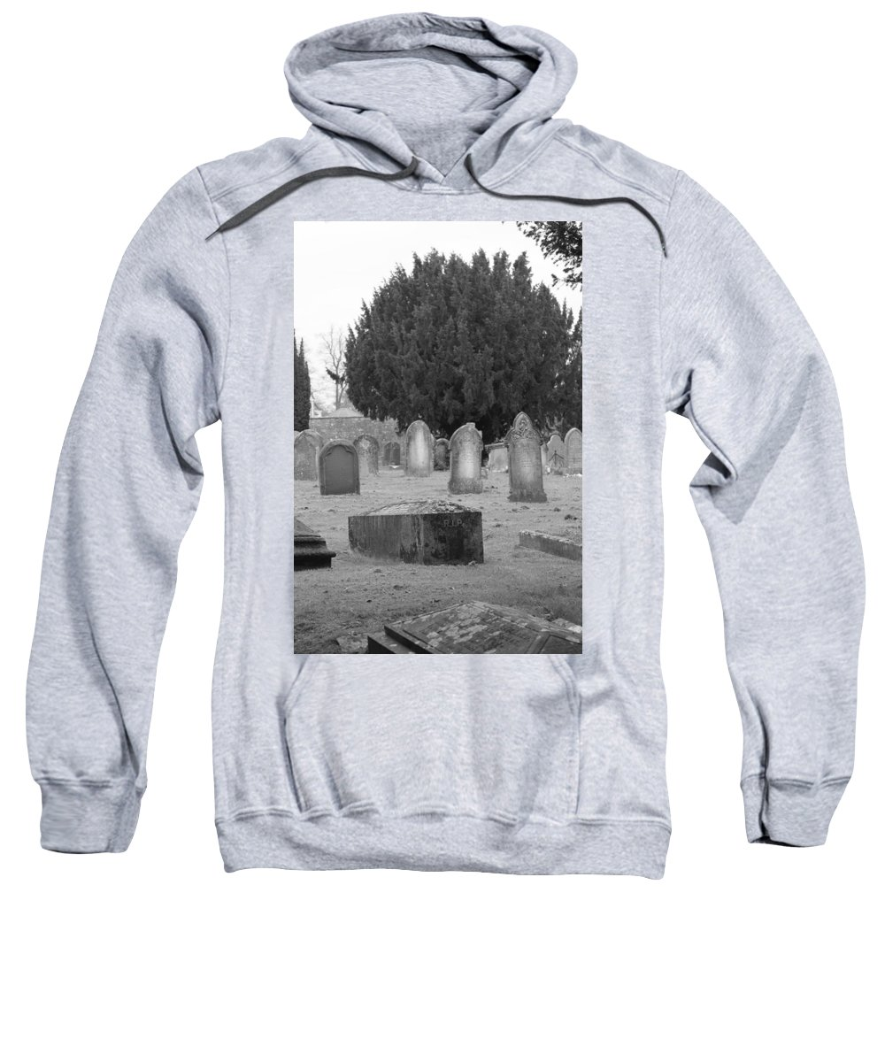 Cemetery Sweatshirt featuring the photograph Cemetery Church Of St. Mary Wedmore by Lauri Novak