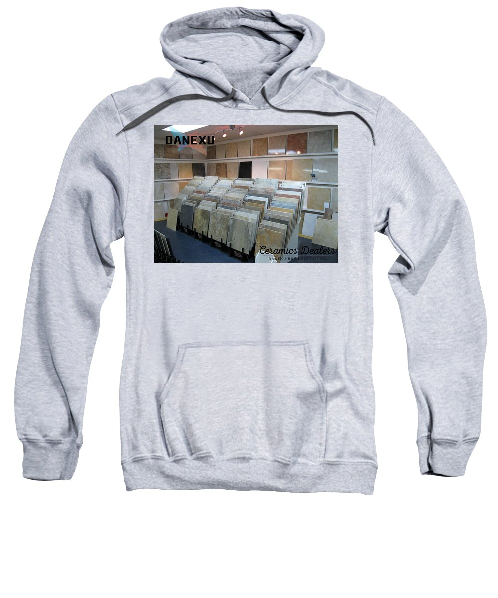 Sweatshirt featuring the photograph Ceramic Dealers by Danexu