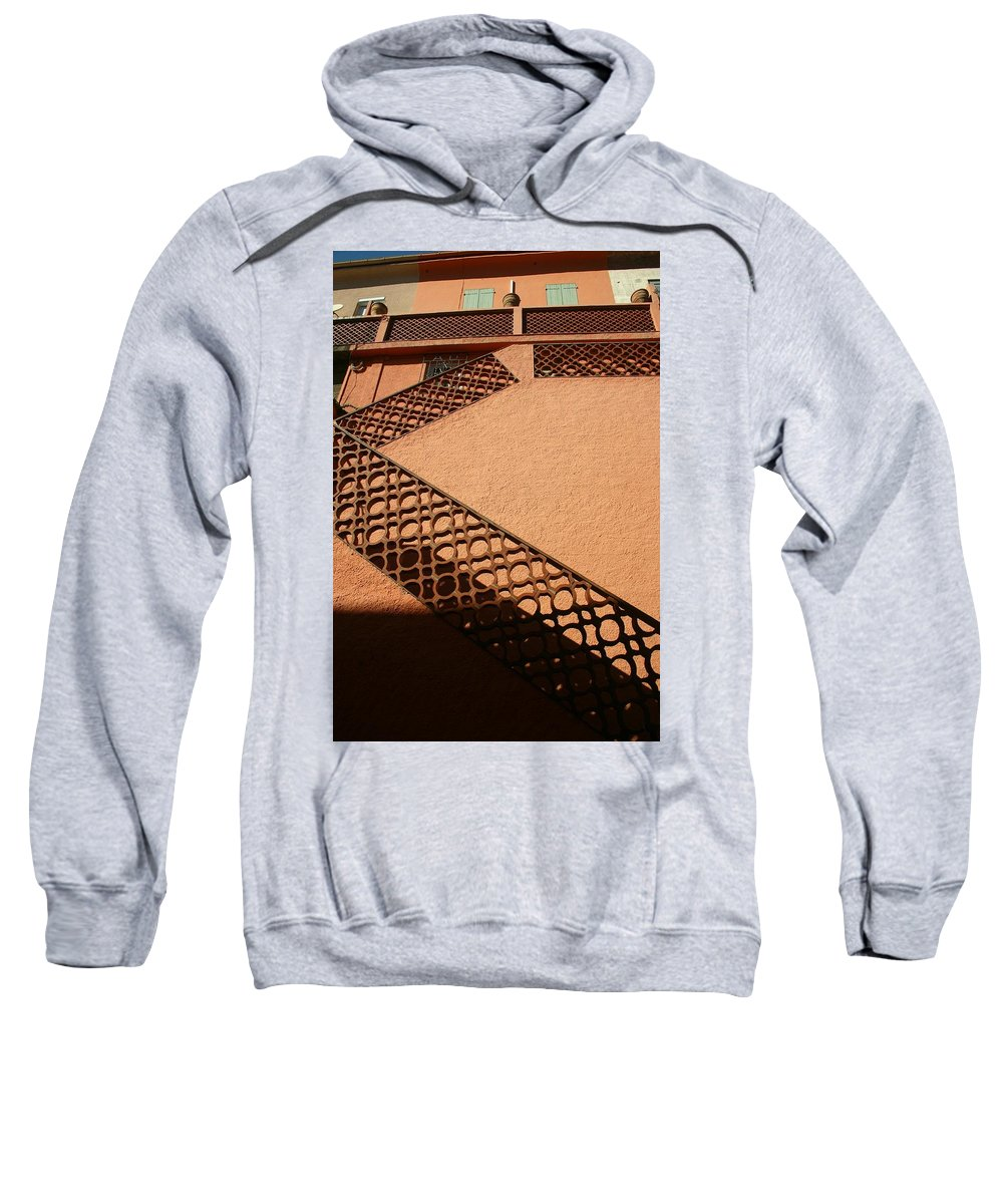 Stairs Sweatshirt featuring the photograph Cerbre France Stairs by Minaz Jantz