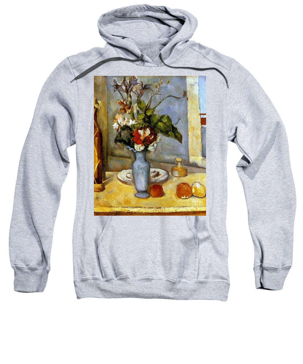 19th Century Sweatshirt featuring the photograph Cezanne: Blue Vase, 1885-87 by Granger