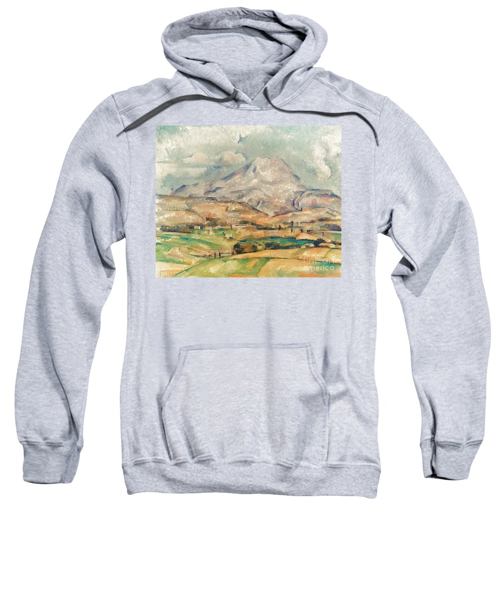 1897 Sweatshirt featuring the photograph Cezanne: St. Victoire, 1897 by Granger