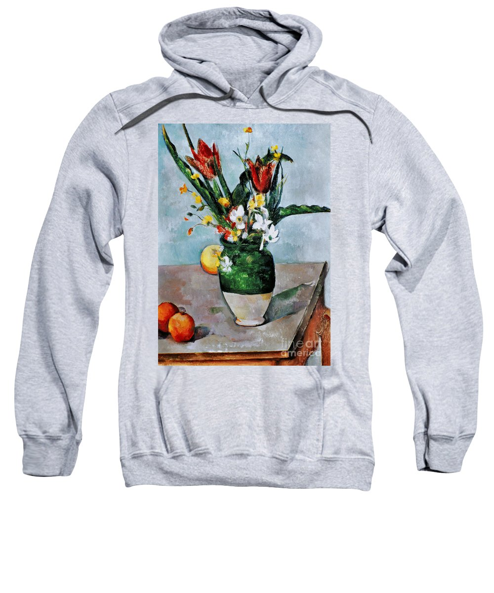 1892 Sweatshirt featuring the photograph Cezanne: Tulips, 1890-92 by Granger