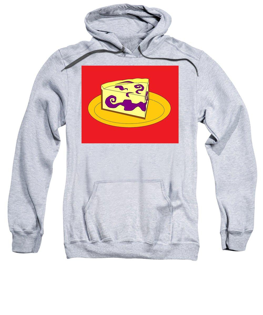 Cheese Cake Sweatshirt featuring the digital art Ch2 by Rita Gehman