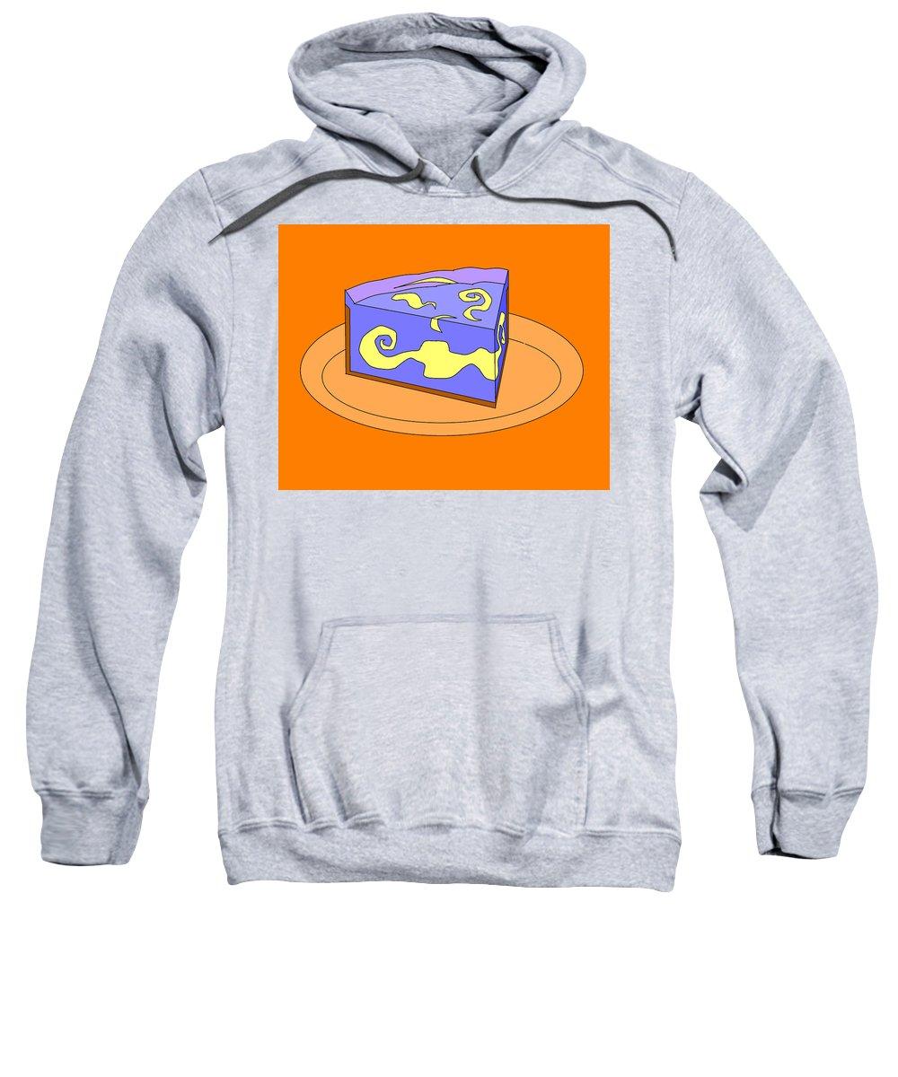 Cheese Cake Sweatshirt featuring the digital art Ch30 by Rita Gehman
