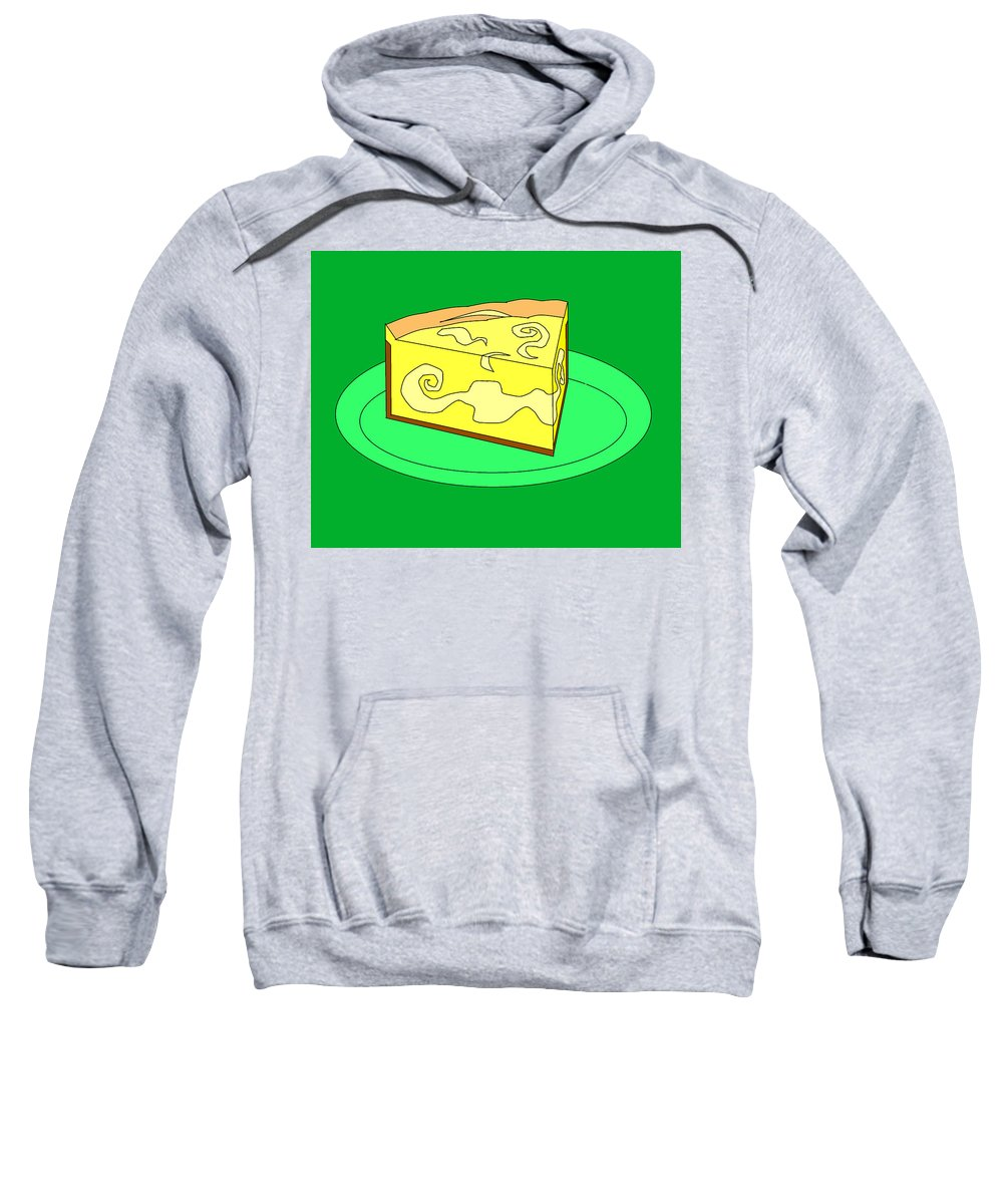 Cheese Cake Sweatshirt featuring the digital art Ch32 by Rita Gehman