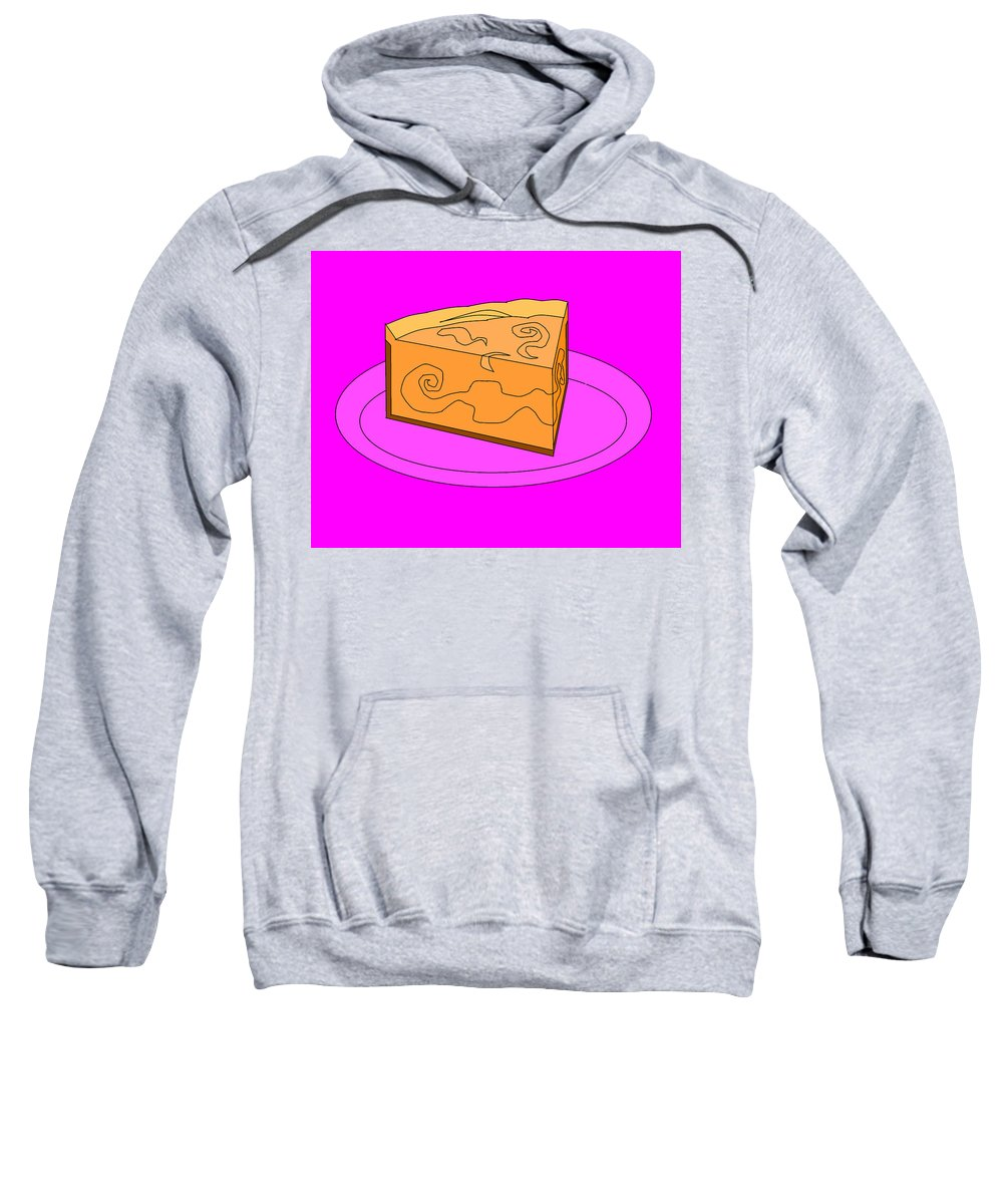Cheese Cake Sweatshirt featuring the digital art Ch34 by Rita Gehman