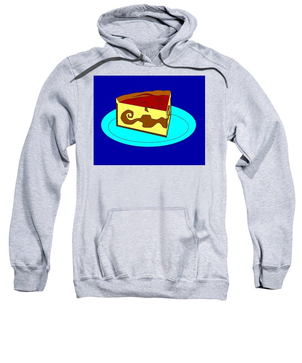 Cheese Cake Sweatshirt featuring the digital art Ch8 by Rita Gehman