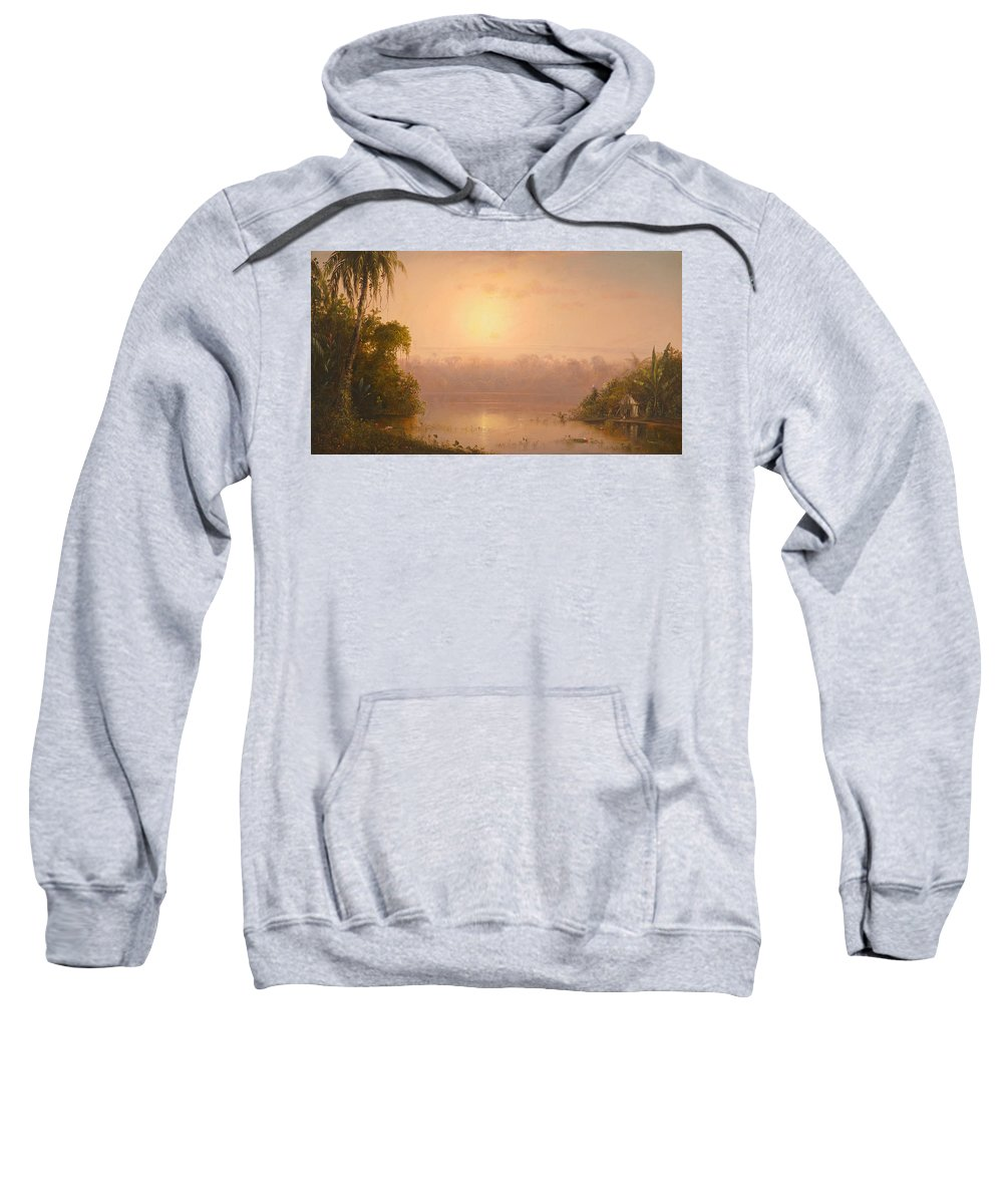 Norton Bush Sweatshirt featuring the painting Chagres River Panama by Celestial Images