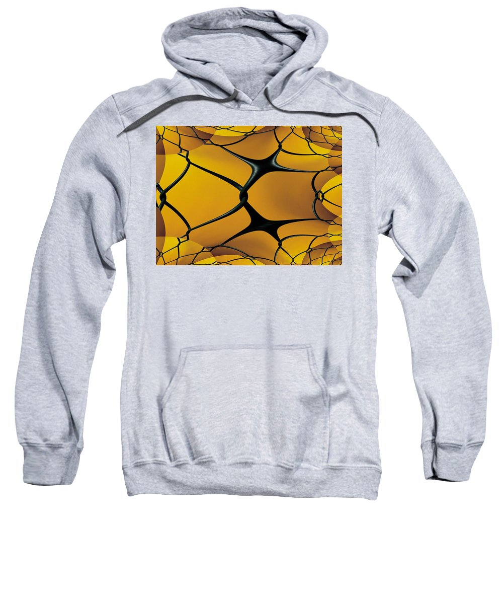 Chain Link Sweatshirt featuring the photograph Chain Link Fractal by Tim Allen