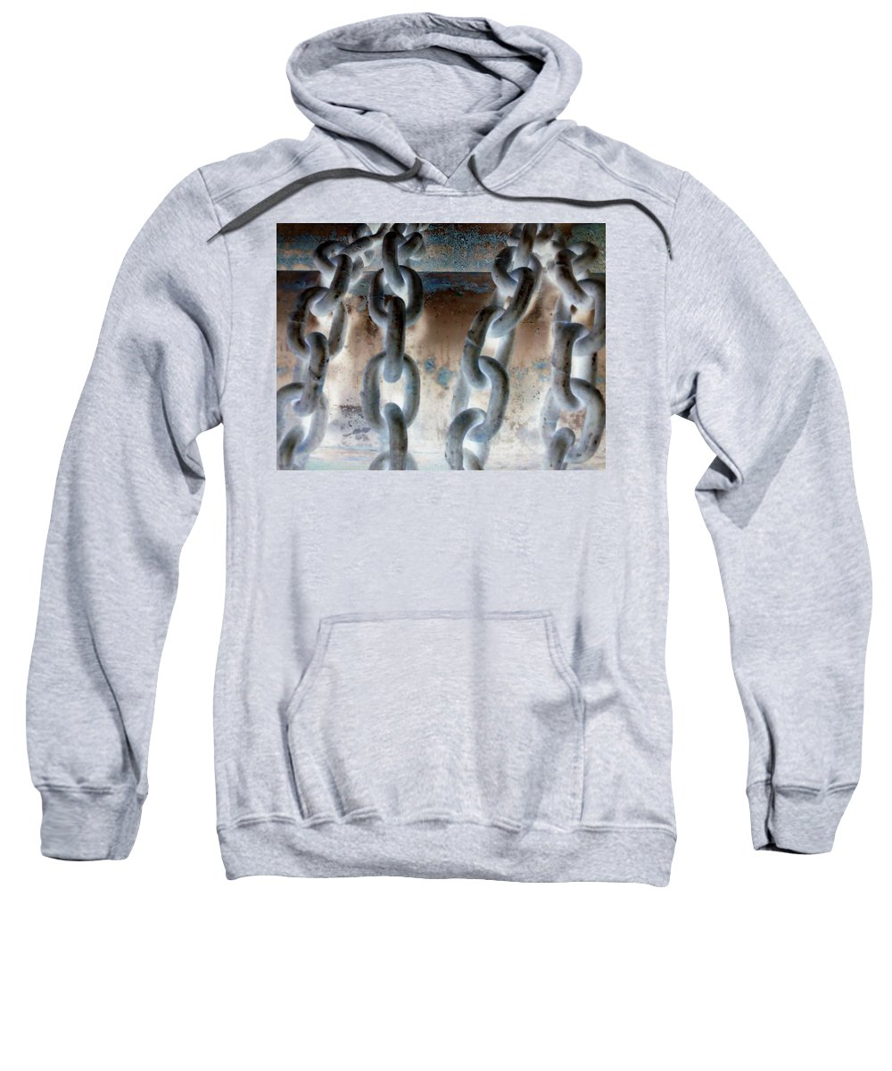 Chains Sweatshirt featuring the photograph Chains - Nagative by Cindy New