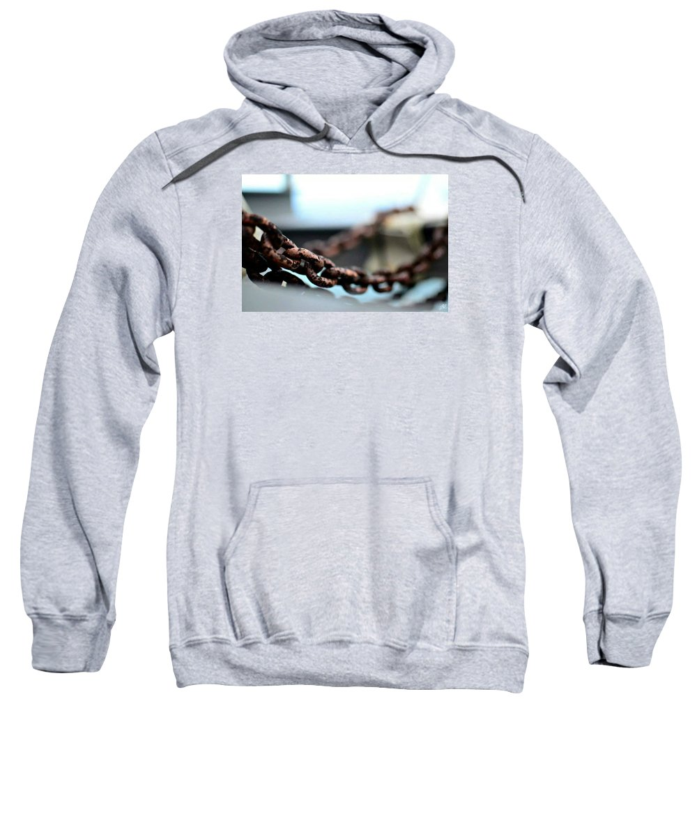 Chains Sweatshirt featuring the photograph Chains by Abigail Eremic