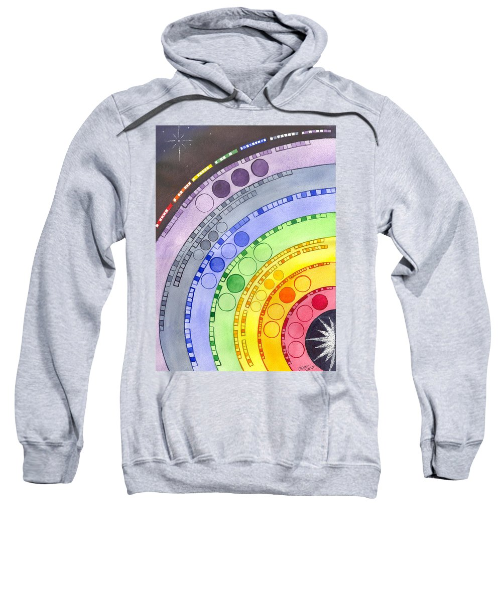 Chakra Sweatshirt featuring the painting Chakras by Catherine G McElroy