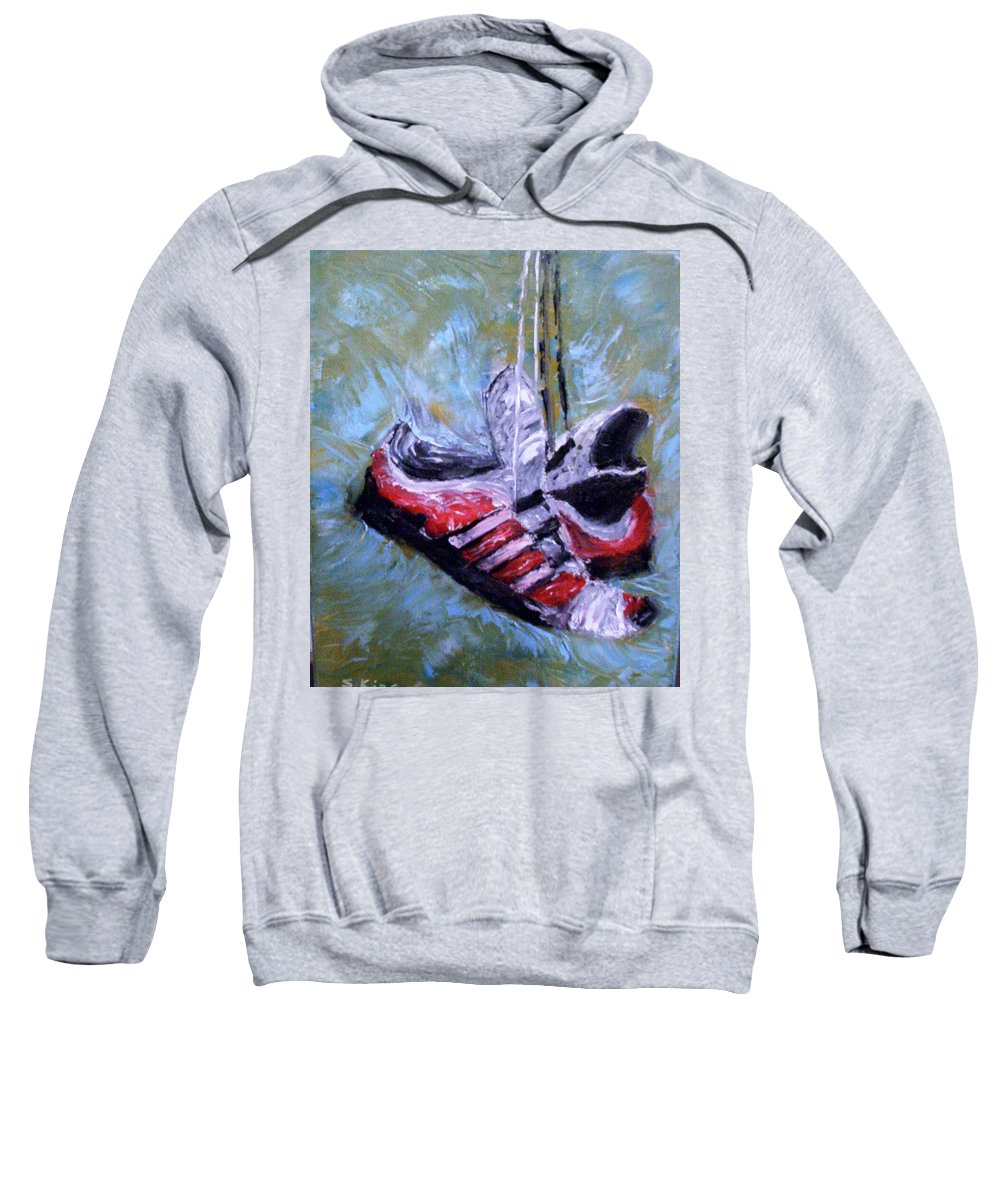Still Life Sweatshirt featuring the painting Champion by Stephen King