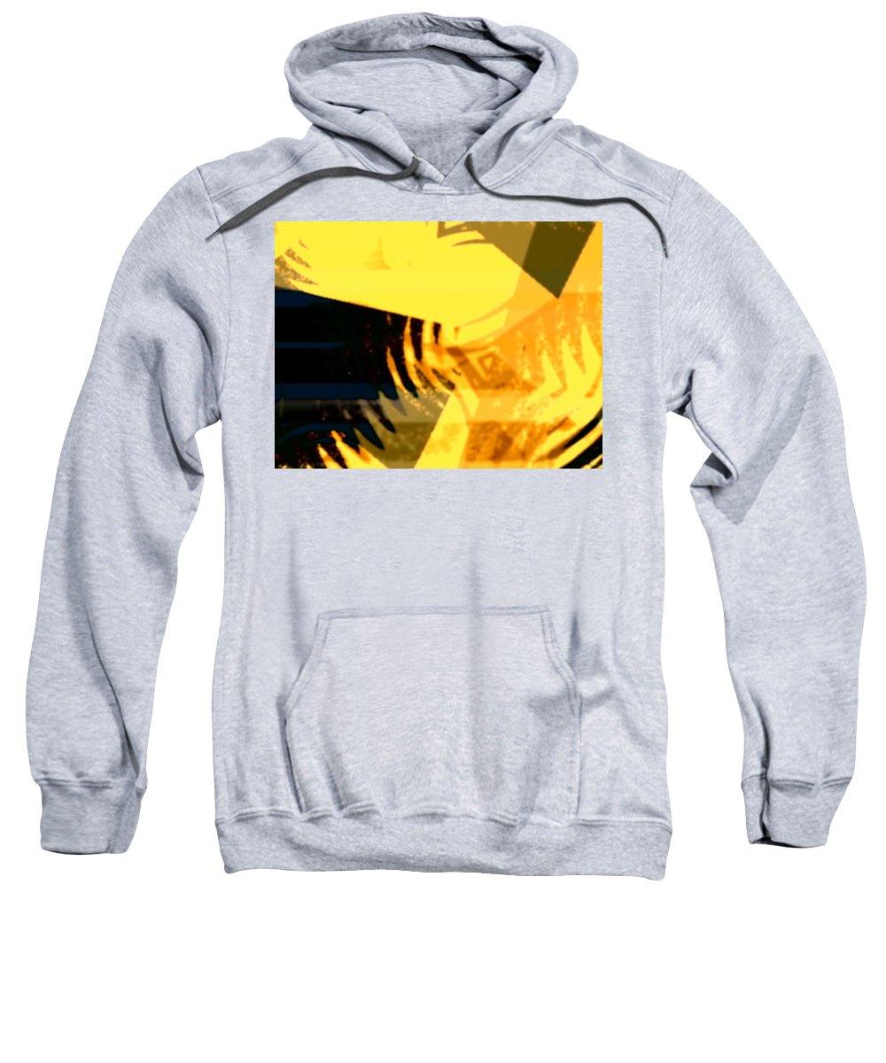 Art Digital Art Sweatshirt featuring the digital art Change - Leaf10 by Alex Porter