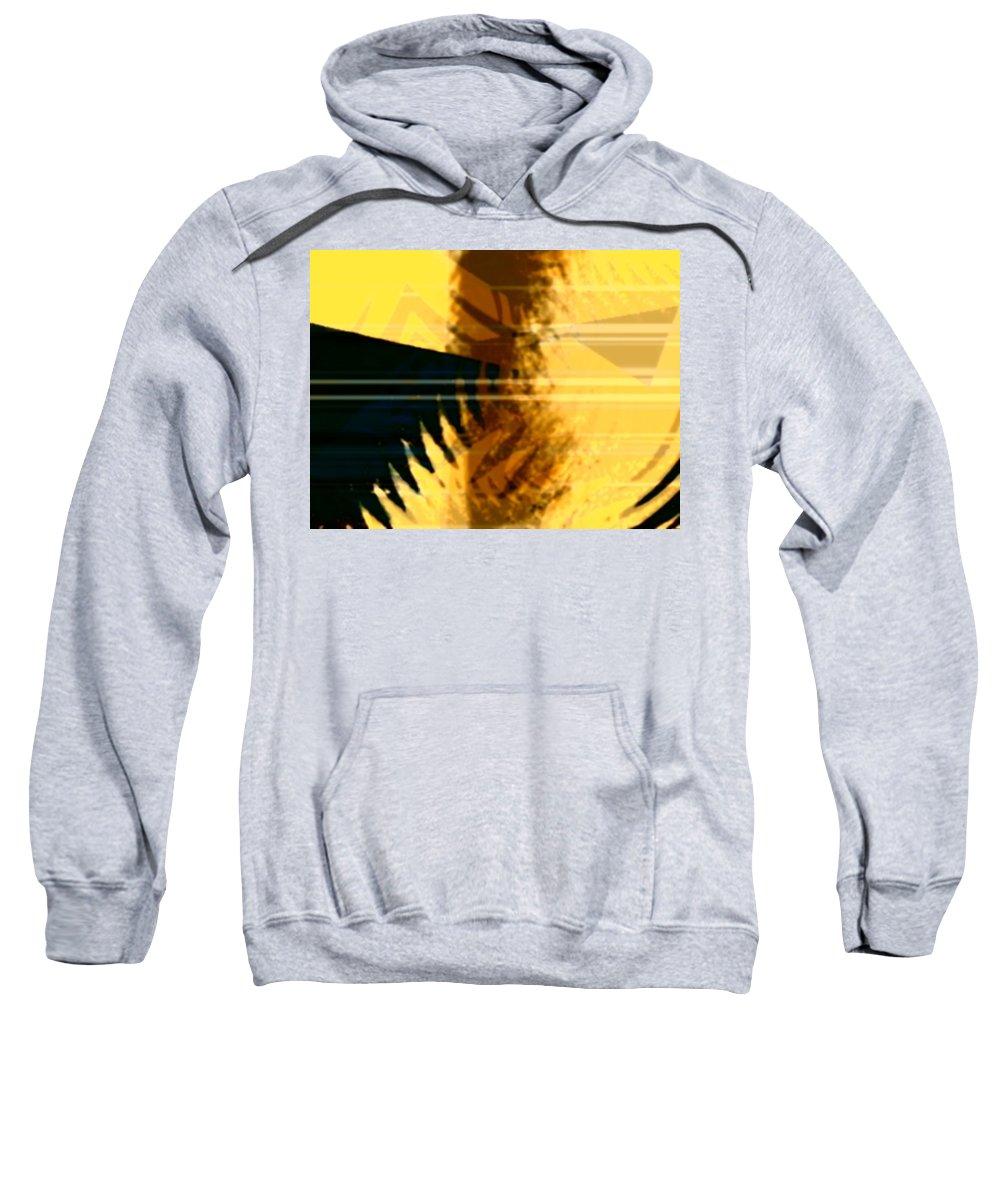 Art Digital Art Sweatshirt featuring the digital art Change - Leaf7 by Alex Porter
