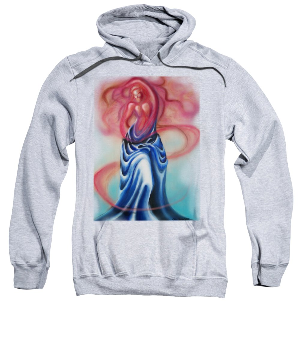 Female Sweatshirt featuring the painting Change by Kevin Middleton