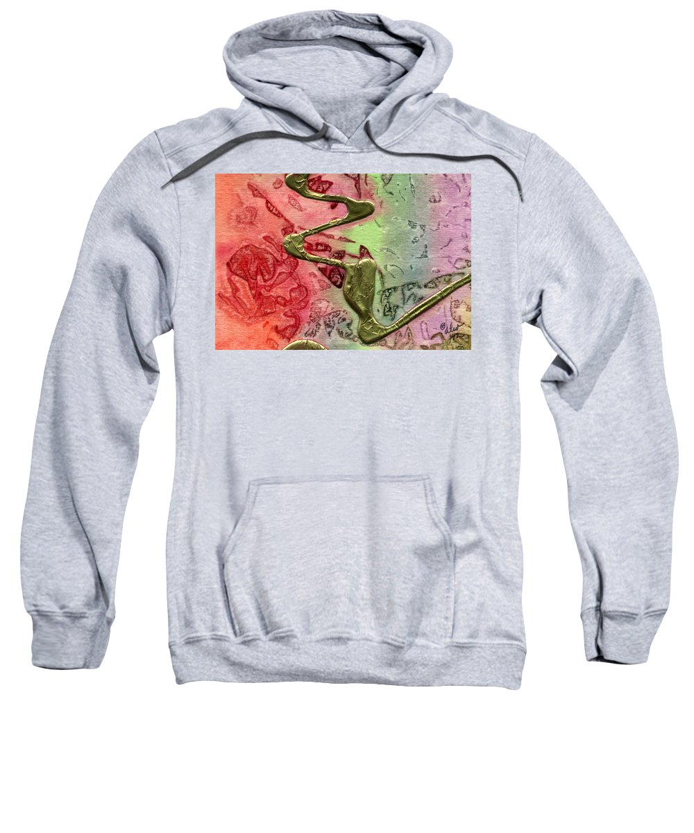 Abstract Sweatshirt featuring the mixed media Changes by Angela L Walker