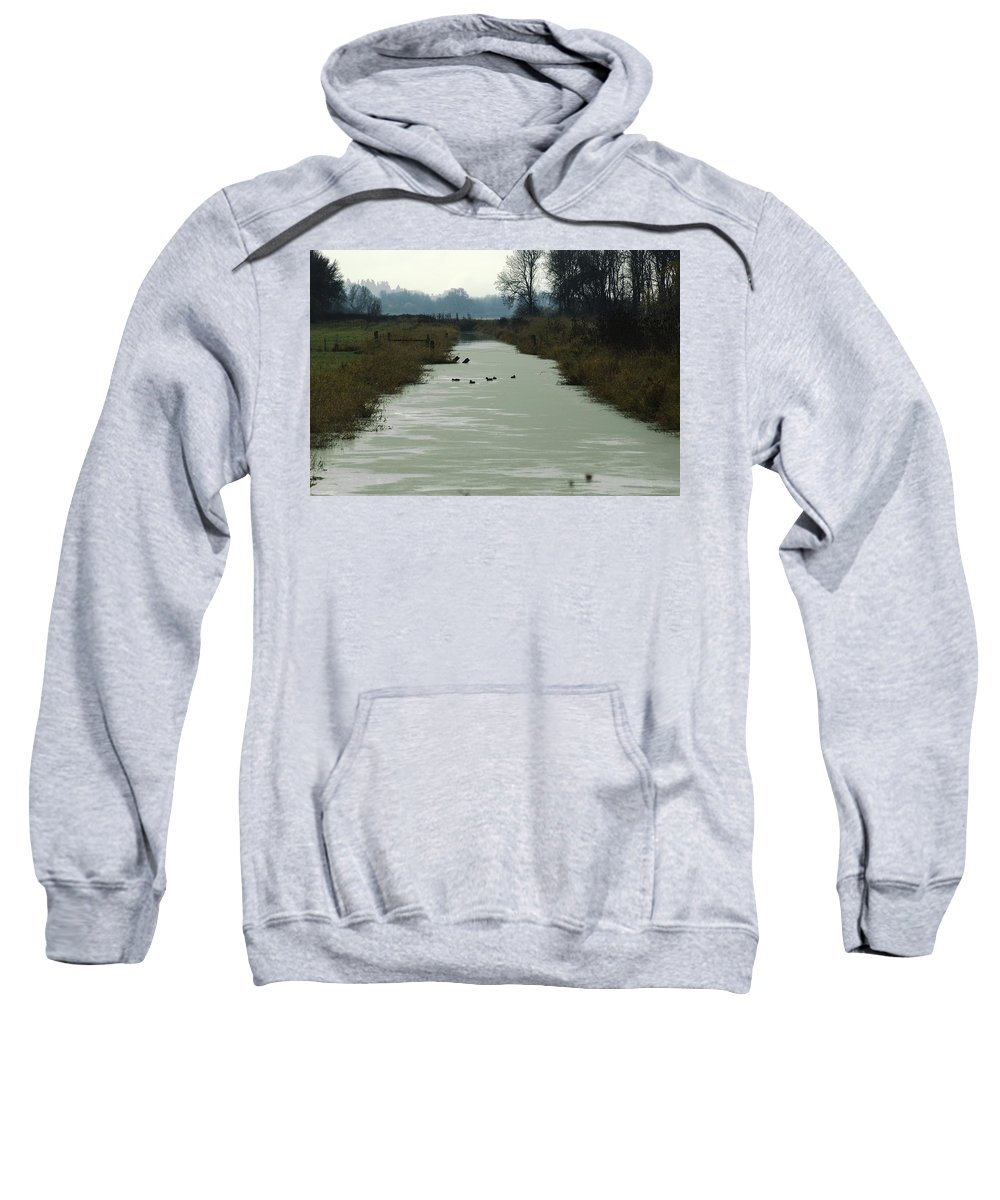 Wetland Sweatshirt featuring the photograph Channel by Sara Stevenson