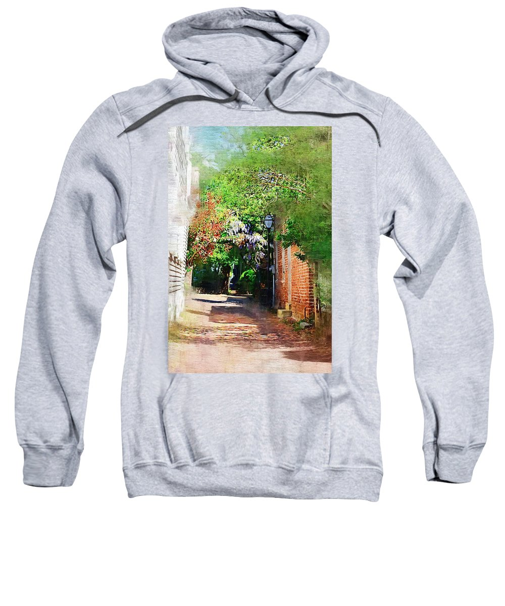 Alley Sweatshirt featuring the photograph Charlestons Alley by Donna Bentley