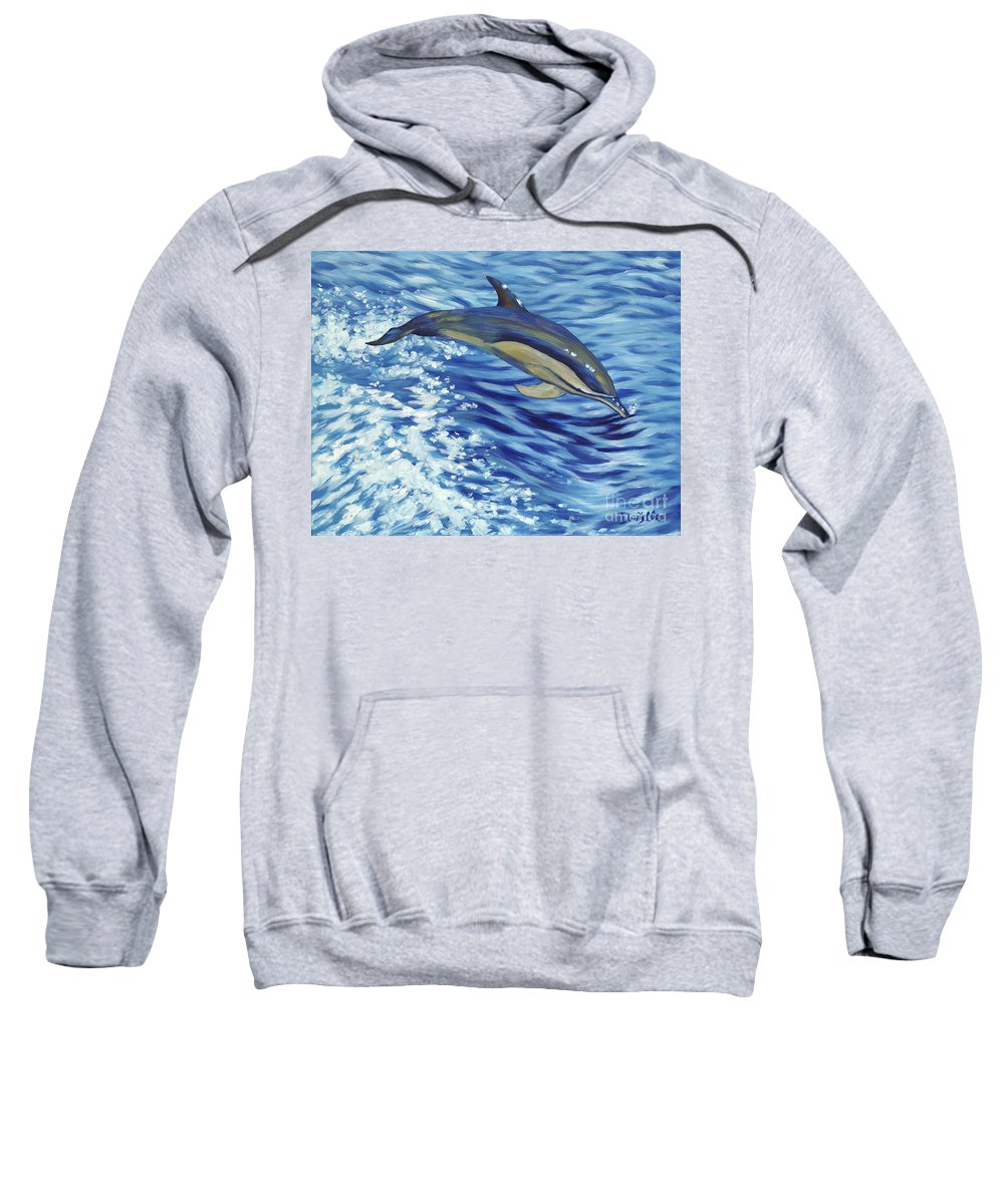 Atlantic Sweatshirt featuring the painting Chasing You by Danielle Perry