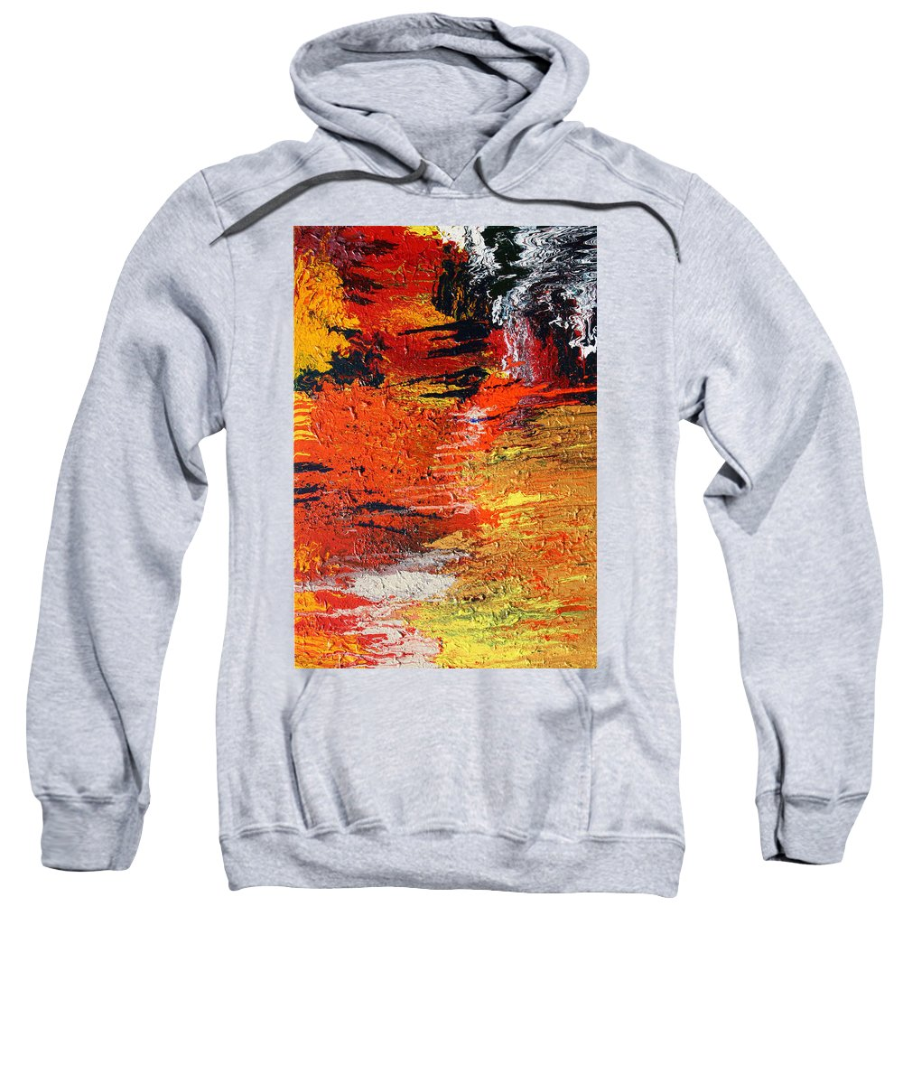 Fusionart Sweatshirt featuring the painting Chasm by Ralph White