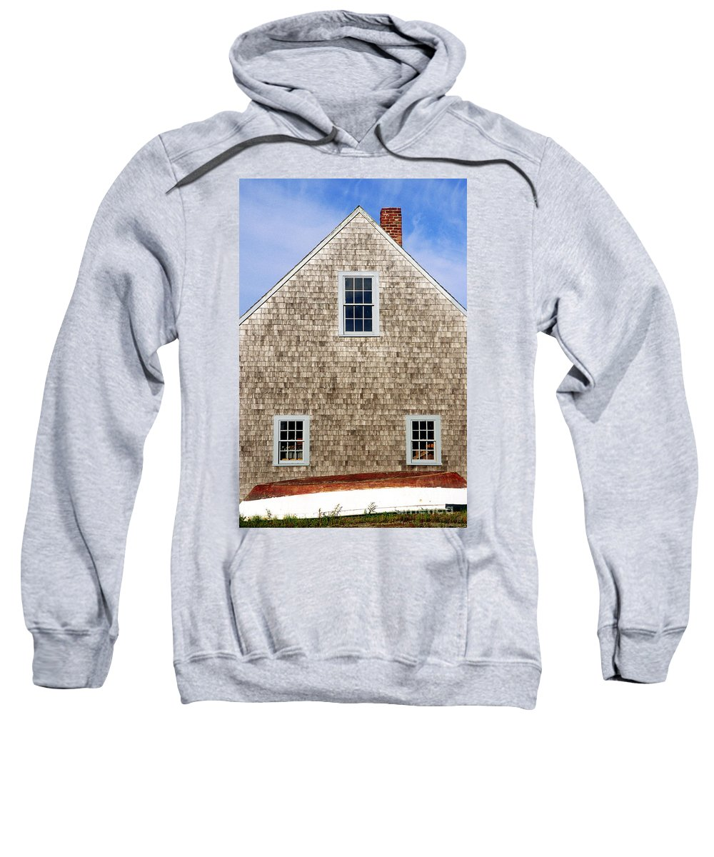 cape Cod Sweatshirt featuring the photograph Chatham Boathouse by John Greim