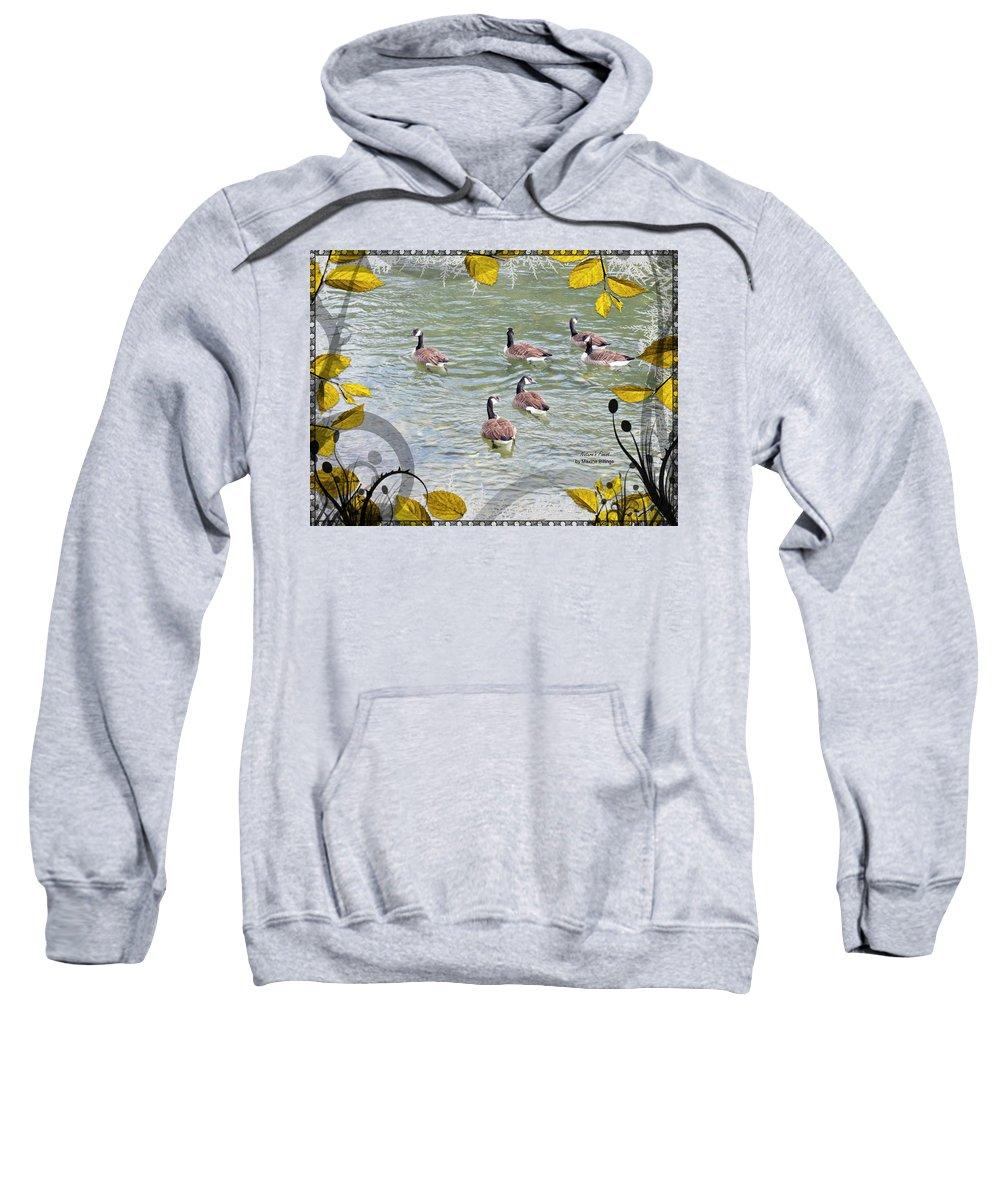 Geese Sweatshirt featuring the photograph Cherokee Cruisin' by Maxine Billings