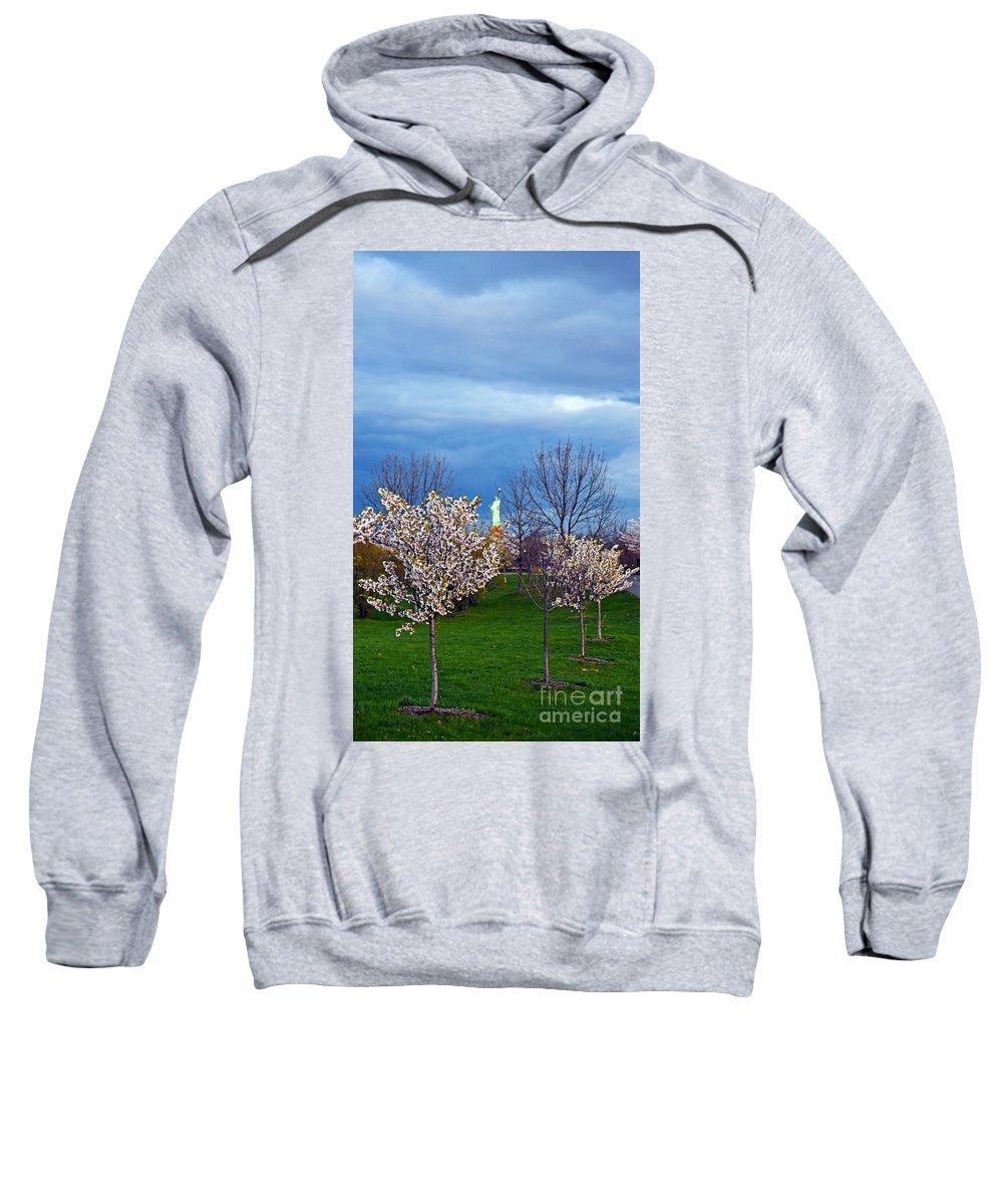 Lsp Sweatshirt featuring the photograph Cherry Blossom Liberatum by PatriZio M Busnel