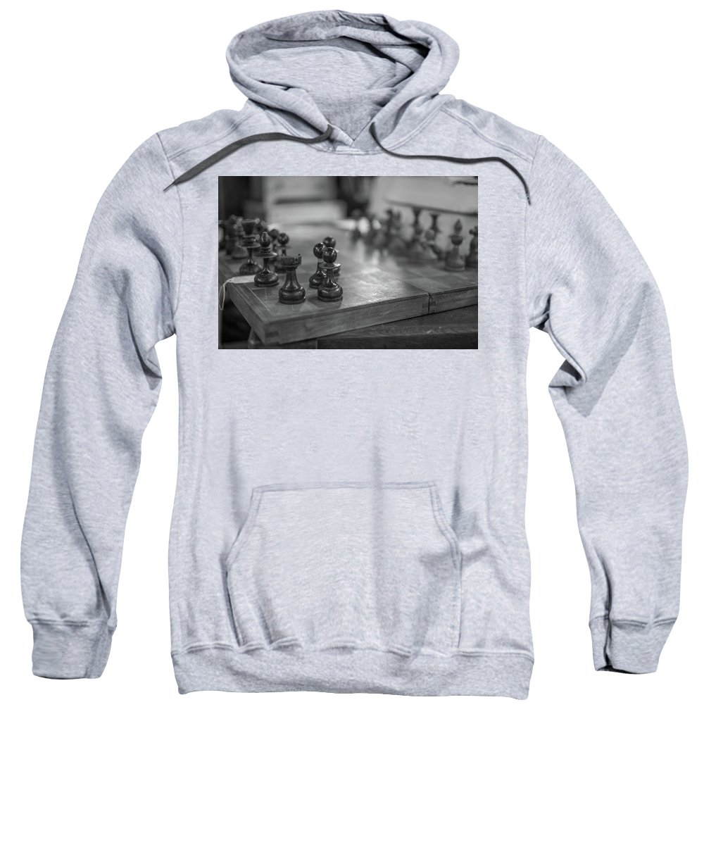Chess Chessboard Sweatshirt featuring the photograph Chess by Gary Brown