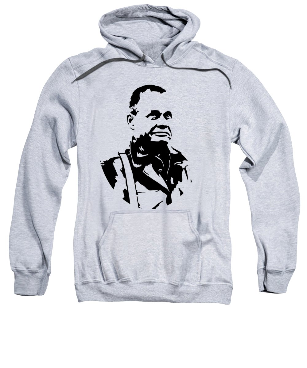 Chesty Puller Sweatshirt featuring the digital art Chesty Puller by War Is Hell Store