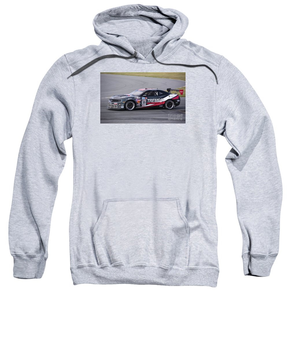 Automobile Sweatshirt featuring the photograph Chevy Camaro At Daytona Raceway by Tad Gage