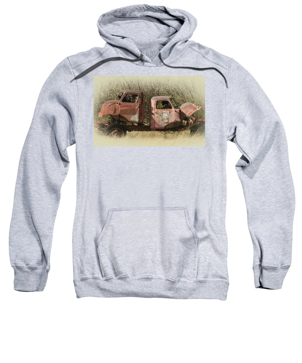 Chevy Sweatshirt featuring the photograph Chevy Vs Chevy by Inge Riis McDonald