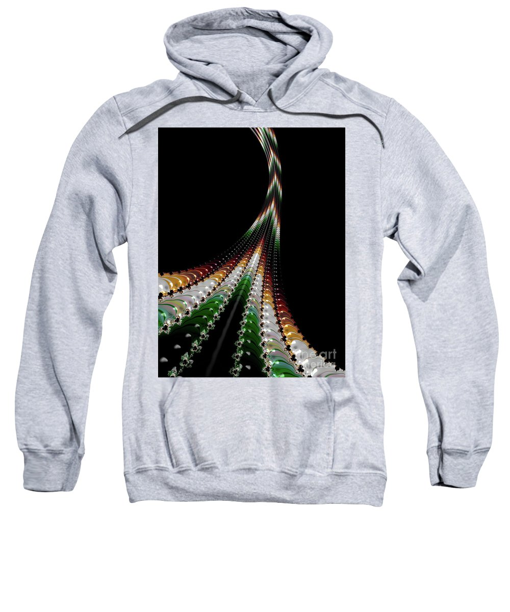 Sweatshirt featuring the digital art chi by Barbara Milton