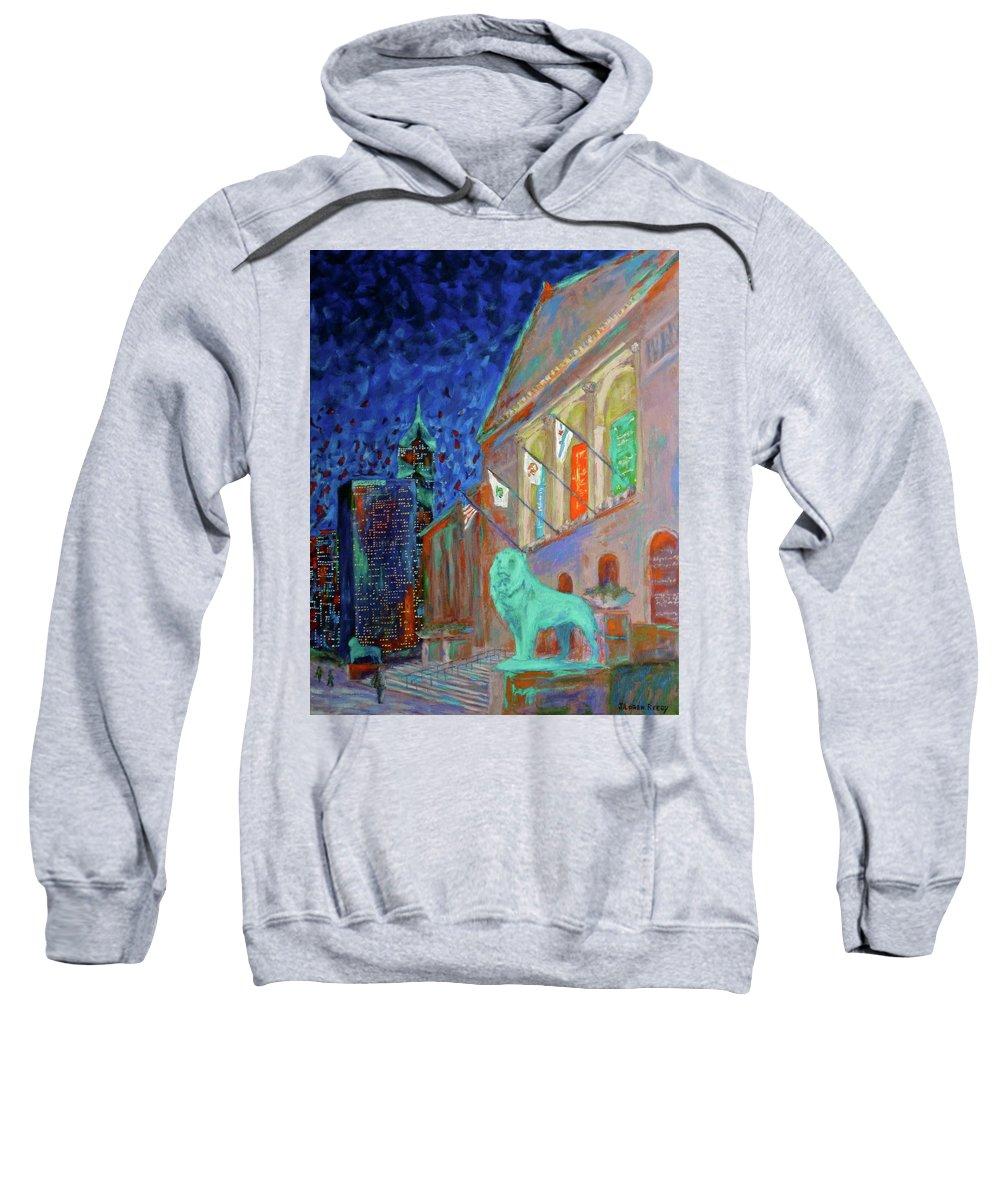 Chicago Art Institute Sweatshirt featuring the painting Chicago Art Institute by J Loren Reedy