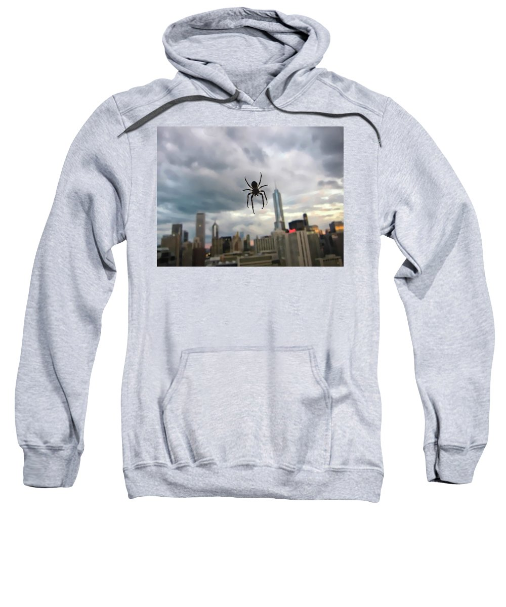 Spider Sweatshirt featuring the photograph Chicago-room With A View by Douglas Barnard