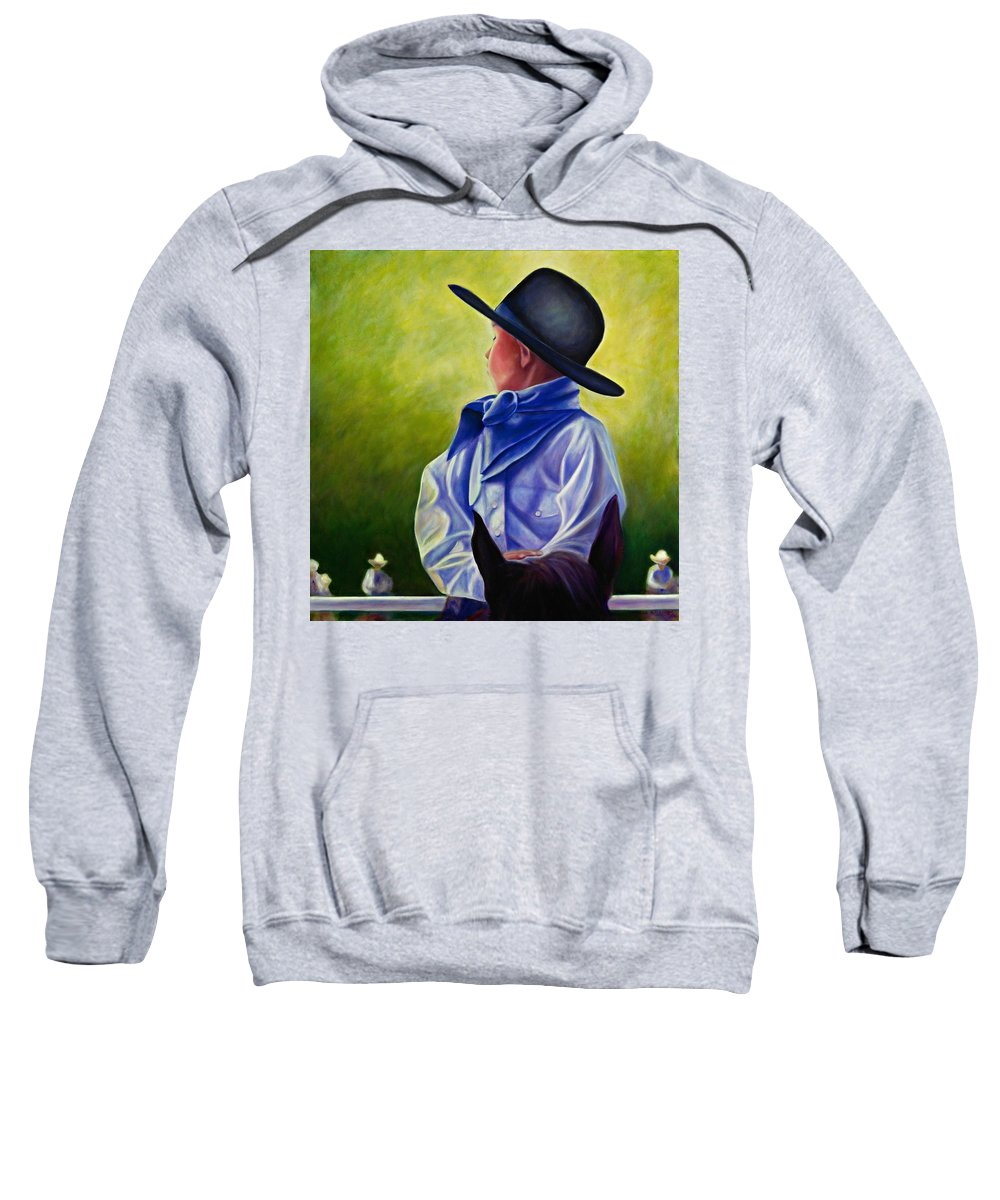 Child Sweatshirt featuring the painting Child by Shannon Grissom