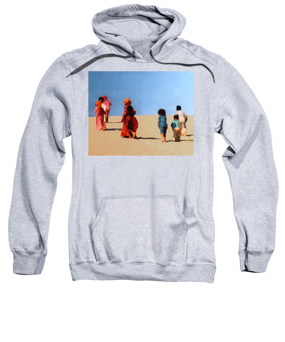 Children Sweatshirt featuring the photograph Children Of The Sinai by Kurt Van Wagner