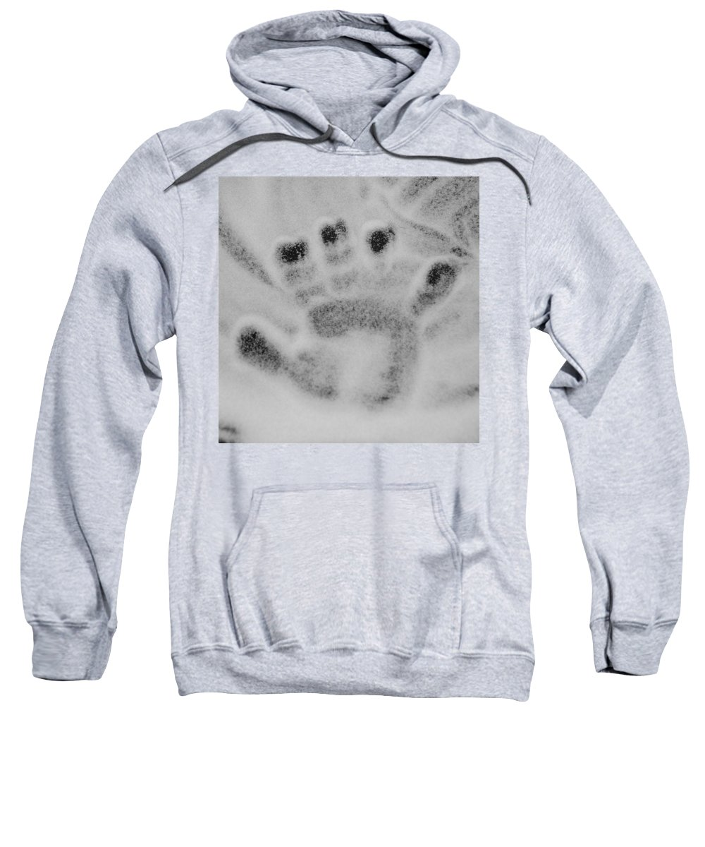 Black And White Sweatshirt featuring the photograph Childs Hand by Rob Hans