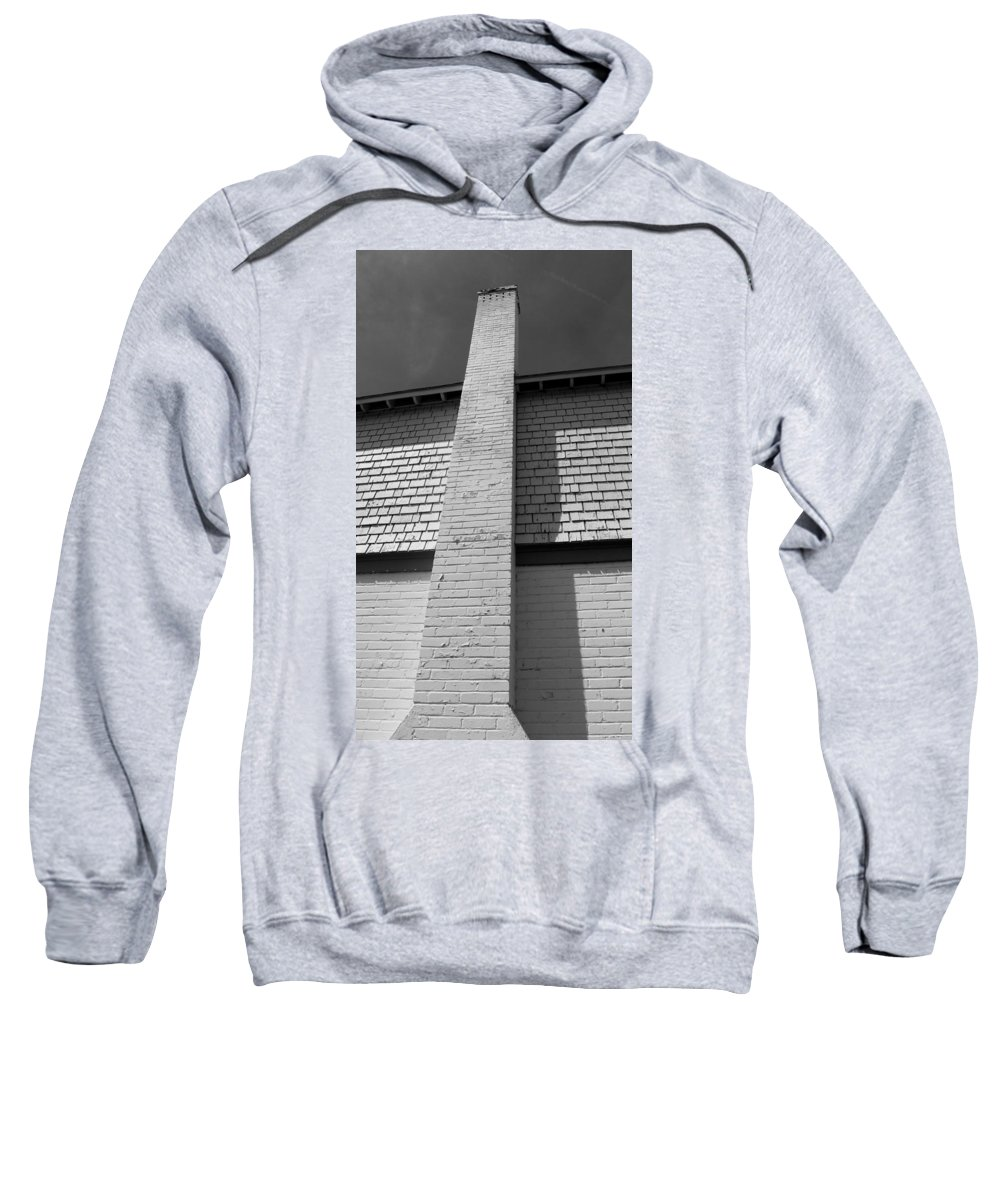Black And White Photography Sweatshirt featuring the photograph Chimney by Kirk Griffith