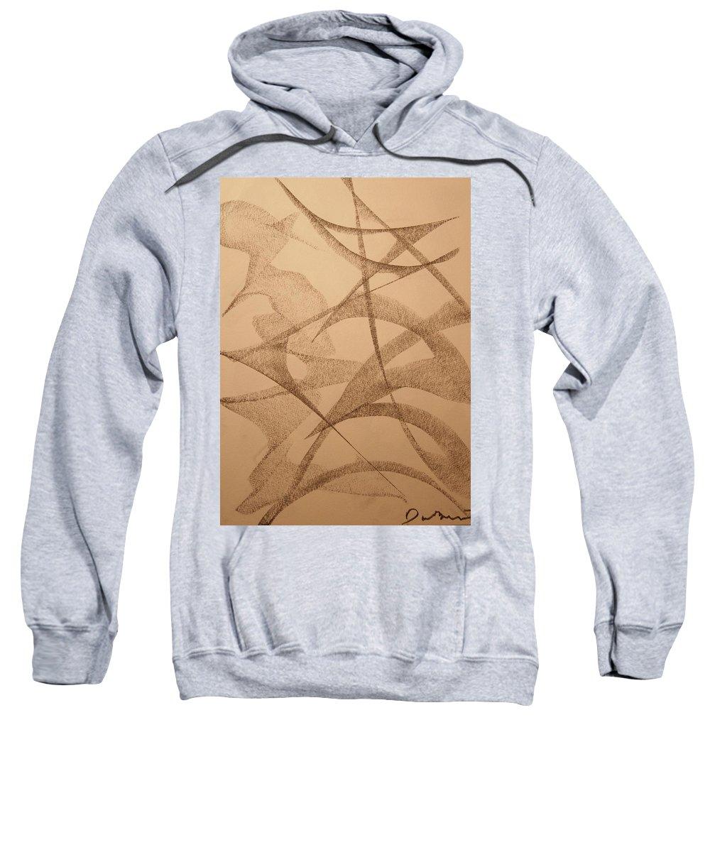 Abstract Sweatshirt featuring the drawing China by David Barnicoat