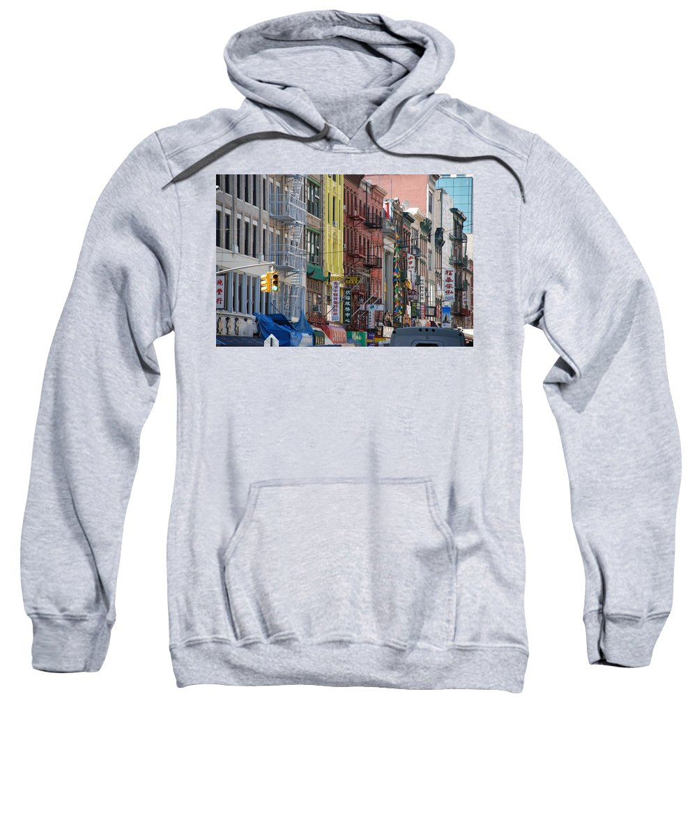 Architecture Sweatshirt featuring the photograph Chinatown Walk Ups by Rob Hans