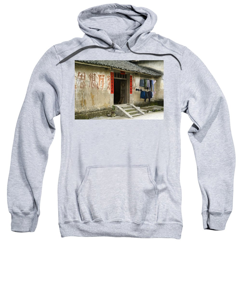 Asia Sweatshirt featuring the photograph Chinese Laundry by Michele Burgess