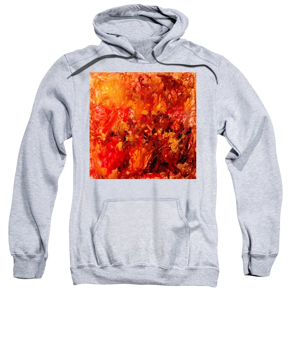 Abstract Sweatshirt featuring the painting Chocolate Cherry Kiss by Natalie Holland
