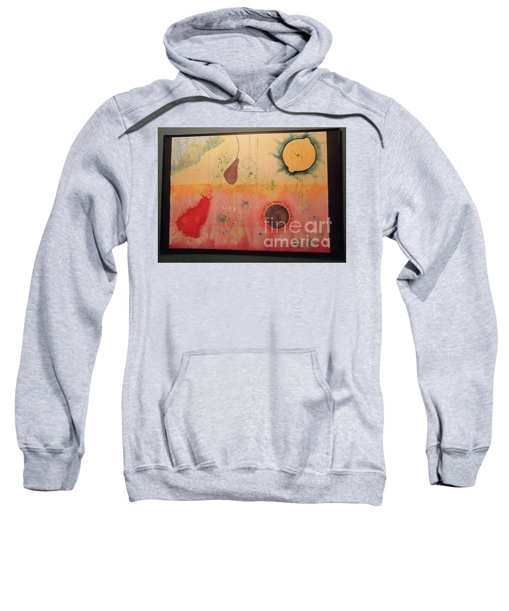 Planet Sweatshirt featuring the painting Choking by Xn Tyler